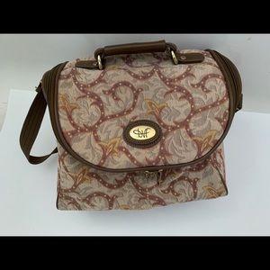 DVF tapestry duffle bag